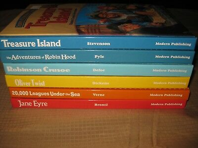 Lot of 6 TREASURY OF ILLUSTRATED CLASSICS Hardcover Books by MODERN PUBLISHING