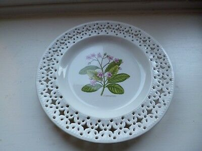 Leeds ware classical cream ware pierced plate