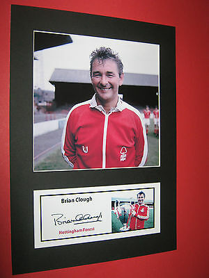 Brian Clough Nottingham Forest  A4 Photo Mount Signed (Pre-Printed)