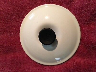 Vintage Le Crueset of France  Enameled  Cast Iron White #14  Lid-Lid Only