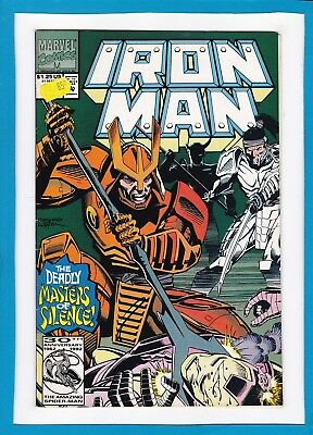 """Invincible Iron Man #281_June 1992_Very Fine_""""the Deadly Masters Of Silence""""!"""