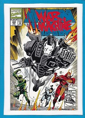 INVINCIBLE IRON MAN #283_AUGUST 1992_VERY FINE+_2nd FULL APPEARANCE WAR MACHINE!