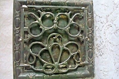 Symonds Antique Wrought Iron Heat Wall Floor Vent Register Victorian Intricate