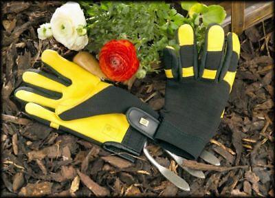 Gold Leaf Soft Touch RHS endorsed leather gardening gloves