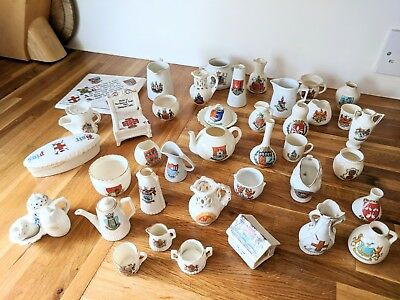Large Lot Of Antique Crested China
