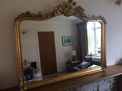 Beautiful ornate gold Laura Ashley Patricia mirror with bevelled edges