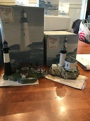harbour lights lot of 2: coquille river and tybee island