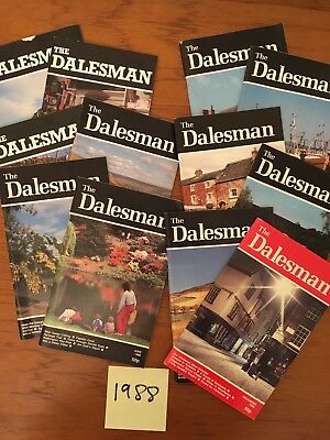 A Complete Year of The Dalesman Magazines ~ 1988