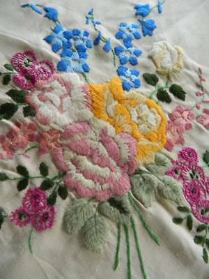 Vintage hand embroidered panel with a floral design
