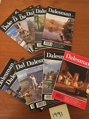 A Complete Year of The Dalesman Magazines ~ 1991