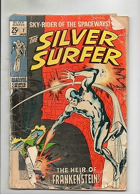 THE SILVER SURFER VOL 1 # 7 / MARVEL 1969 / POOR / 1st FRANKENSTEIN MONSTER.