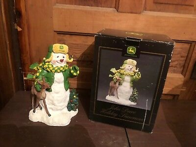 SpecCast John Deere Holiday Snowman First In A Series With Box