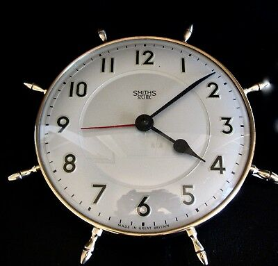 A working Vintage Smiths Sectric 'Maritime' wall clock  in great condition.