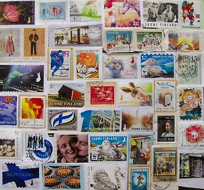 FINLAND STAMPS 175g ON PAPER KILOWARE, NICE LOT!