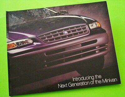 rare 1995 Chrysler & Plymouth Mini-Van Brochure POP-UP & ARTICULATING H-C BOOK