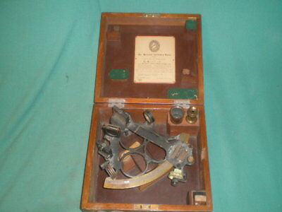 Vintage Hezzanith Observatory London Endless Rapid Reader Sextant S863 w/ Box
