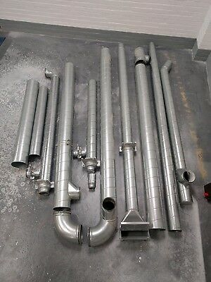 DUST EXTRACTOR DUCTING JOB LOT OF 200mm 150mm and shut off gates