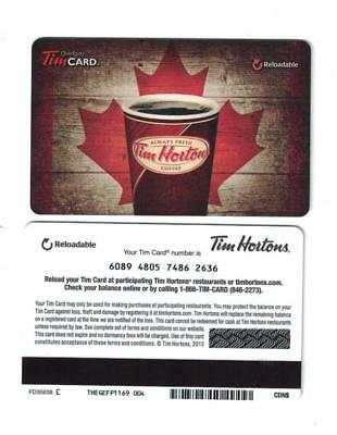 Tim Hortons 2013 Canada Day Red Maple Leaf Gift Card FD35638