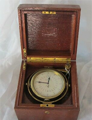 Longines Marine Chronometer 21 Jewels 5 Adjustments 36 Hour Working 1940