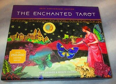THE ENCHANTED TAROT 25th Anniversary Edition Amy Zerner Monte Farber CARDS/BOOK