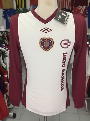 BNWT Shirt Hearts Heart Of Midlothian 2010/11 (M) Home Long Sleeve Umbro Jersey