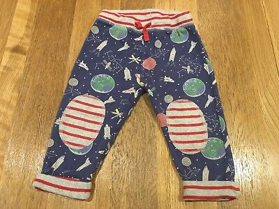 Baby Boden Reversible Jersey Joggers Trousers Boys 18-24 Months Turn Ups Space