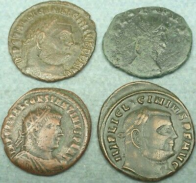 Lot Of 4 Roman Bronze Coins