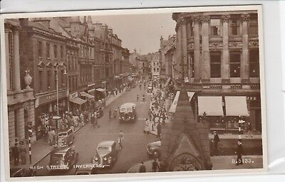 Vintage Postcard High Street, Inverness, Scotland. F W Woolworth Store