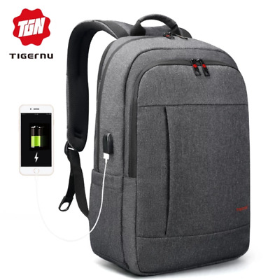 2018 Tigernu Anti-thief USB bagpack 15.6inch laptop backpack for women Men schoo