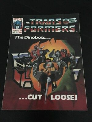 Marvel UK Transformers G1 Issue Number 74 August 1986