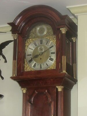 19 Bell Musical Clock In Mahogany Case