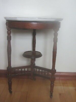 Unusual Table With Rotating Wedgewood Top