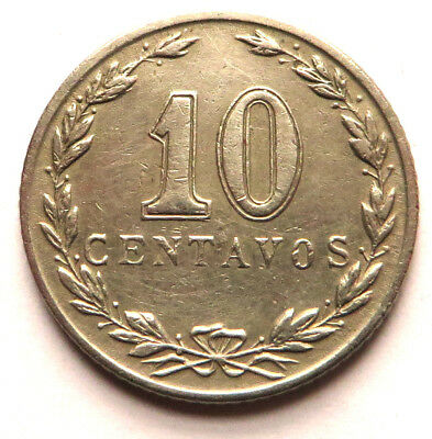 Argentina 10 Centavos 1937 Copper-Nickel KM#35