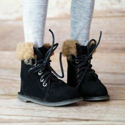 "Black  Short Snow Boots SHoes For 1//4 17/"" BJD MSD AOD AS Volks LUTS DOLL G/&W"
