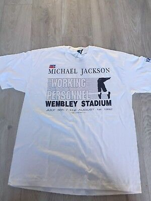 Michael Jackson Original 1992 Wembley Stadium Pepsi Crew T Shirt