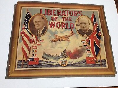 Original LATE WWII poster to defeat Japan. Europe was is over. On to the Pacific