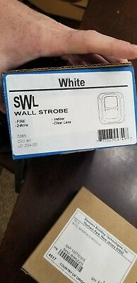 System Sensor White SWL Wall Strobe Indoor Clear Lens 2-Wire