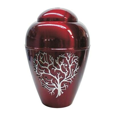 Metal  Cremation Urn for Ashes  Tree of Life In Heart Memorial Ashes Urn Adults
