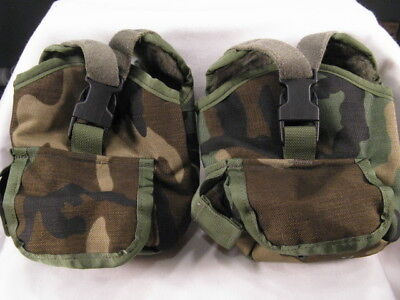 2 New Molle Elcs Spear Safariland Canteen Covers Woodland Camouflage Pouches Us