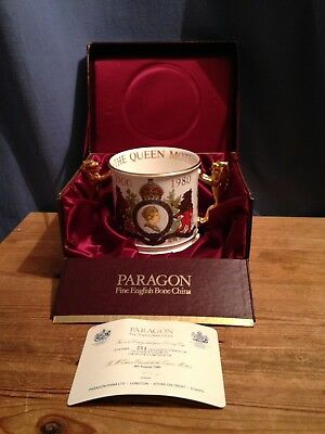 A Large Paragon Commemorative Loving Cup - Queen Mother 80th Birthday - 1980
