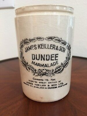 Vintage James Keiller & Son Dundee Marmalade small crock made in Great Britian