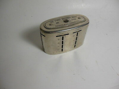 Vintage Traveling Teller Coin Bank First National Bank Schuylkill Haven Pa.