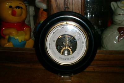 Rare Vintage Nice Germany or French Wooden Wall Barometer beveled glass