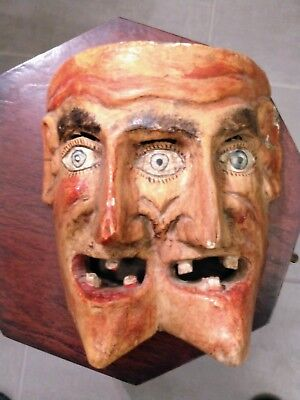 Antique RARE Three-Eyed Giant FOLK ART. Large Mask