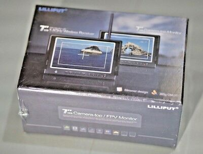 """New sealed Lilliput 664/W 7"""" camera FPV monitor With 5.8GHz Wireless Receiver"""