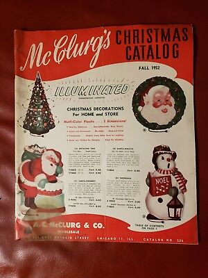 1952 A. C. McClurg & Co. CHRISTMAS CATALOG AUTHENTIC RARE