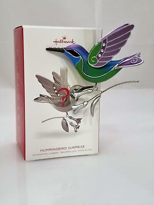 Hallmark Mystery Repaint Ornament 2018 Hummingbird Surprise Greeen & Blue 2213GR