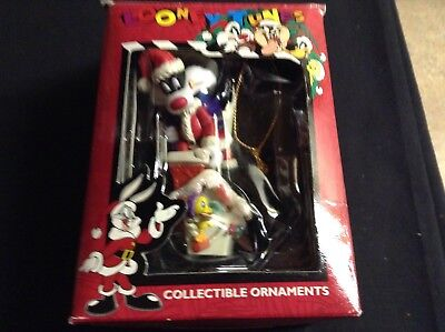 "Matrix Looney Tunes ""Sylvester on House"" 3 1/2"" CHRISTMAS ORNAMENT 1996"