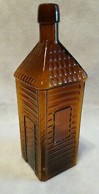 """Antique """"Old Homestead Wild Cherry Bitters"""" Bottle, Applied top!"""
