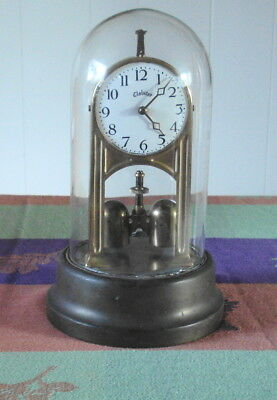 Antique Tiffany Cloister Never Wind Electric Battery Clock for Parts/Repair